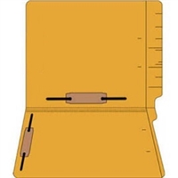 "Colored Folders, End Tab, Letter Size, 3/4"" Exp, Fastener Pos 3/5, 11pt Goldenrod, 50/Bx"