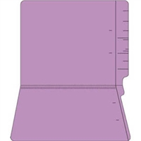 "Colored Folders, End Tab, Letter Size, 3/4"" Exp, No Fasteners, 11pt Lavender, 100/Bx"