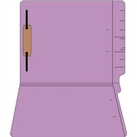 "Colored Folders, End Tab, Letter Size, 3/4"" Exp, Fastener Pos 1, 11pt Lavender, 50/Bx"