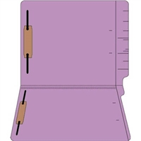 "Colored Folders, End Tab, Letter Size, 3/4"" Exp, Fastener Pos 1/3, 11pt Lavender, 50/Bx"