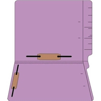 "Colored Folders, End Tab, Letter Size, 3/4"" Exp, Fastener Pos 3/5, 11pt Lavender, 50/Bx"
