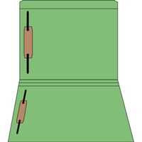 Colored Fastener Folders 85C09RF13, Letter Size, Straight-Cut Reinforced, Fasteners Pos 1/3, 11pt Green, 50/Box