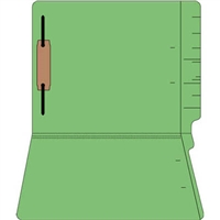 "Colored Folders, End Tab, Letter Size, 3/4"" Exp, Fastener Pos 1, 11pt Green, 50/Bx"
