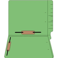 "Colored Folders, End Tab, Letter Size, 3/4"" Exp, Fastener Pos 3/5, 11pt Green, 50/Bx"