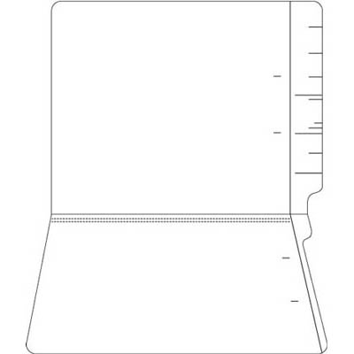 "Colored Folders, End Tab, Letter Size, 3/4"" Exp, No Fasteners, 11pt White, 100/Bx"