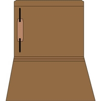 Colored Fastener Folders 85C31RF1, Letter Size, Straight-Cut Reinforced, Fastener Pos 1, 11pt Brown, 50/Box