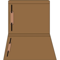 Colored Fastener Folders 85C31RF13, Letter Size, Straight-Cut Reinforced, Fasteners Pos 1/3, 11pt Brown, 50/Box