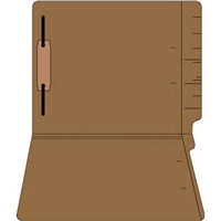 "Colored Folders, End Tab, Letter Size, 3/4"" Exp, Fastener Pos 1, 11pt Brown, 50/Bx"