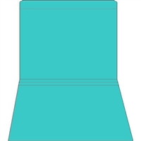 Colored File Folders, Letter Size, 2-Ply, Straight-Cut, 11pt Blue, 100/Bx