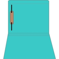 Colored Fastener Folders 85C44RF1, Letter Size, Straight-Cut Reinforced, Fastener Pos 1, 11pt Blue, 50/Box