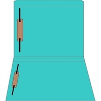 Colored Fastener Folders 85C44RF13, Letter Size, Straight-Cut Reinforced, Fasteners Pos 1/3, 11pt Blue, 50/Box