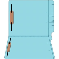 "Colored Folders, End Tab, Letter Size, 3/4"" Exp, Fastener Pos 1/3, 11pt Lt. Blue, 50/Bx"