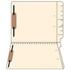 11pt 2 Ply End Tab Folders, Manila, Letter Size, Two Fasteners, 50/Box