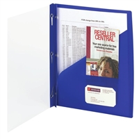 Smead Clear Front Poly Report Covers with Fasteners, Dark Blue (86011)