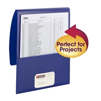 Smead Organized Up Poly Stackit Folders, Letter Size, Dark Blue, 5/Pk (87806)
