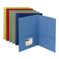 Smead Two-Pocket Heavyweight Folder, Letter Size, Assorted Color (87850)