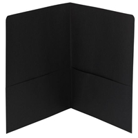 Smead Two-Pocket Heavyweight Folder, Letter Size, Black (87853)