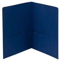 Smead Two-Pocket Heavyweight Folder, Letter Size, Dark Blue (87854)