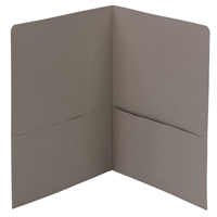 Smead Two-Pocket Heavyweight Folder, Letter Size, Gray (87856)