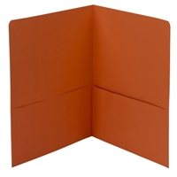Smead Two-Pocket Heavyweight Folder, Letter Size, Orange (87858)