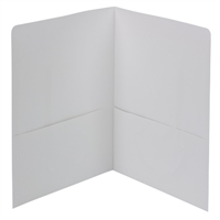 Smead Two-Pocket Heavyweight Folder, Letter Size, White (87861)