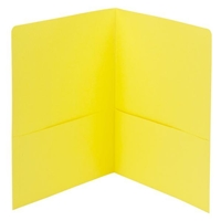Smead Two-Pocket Heavyweight Folder, Letter Size, Yellow (87862)