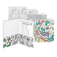 Smead Two-Pocket Coloring Folders - Floral-Nature-Birds (87911)