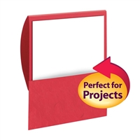 Smead Organized Up Stackit Folder, Letter Size, Textured Stock, Red, 10/Pk (87916)