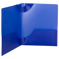 Smead Poly Lockit Two-Pocket Folders, Letter Size, Dark Blue, 25/Bx (87942)
