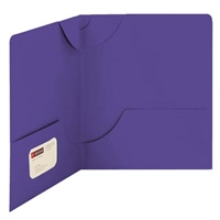 Smead Lockit Two-Pocket File Folder, Letter Size, Purple, 25/Bx (87943)