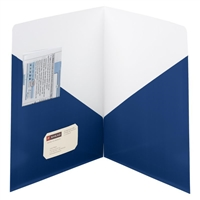 Smead Contemporary Two-Pocket Folders, Letter, Dark Blue 25/Bx (87960)