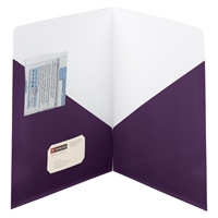 Smead Contemporary Two-Pocket Folders, Purple, 25/Box (87961)