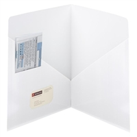 Smead Contemporary Two-Pocket Folders, White, 25 per Box (87962)
