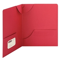 Smead Lockit Two-Pocket File Folder, Letter Size, Red (87980)