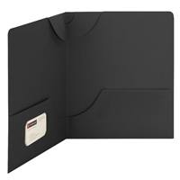 Smead Lockit Two-Pocket File Folder, Letter Size, Black, 25/Bx (87981)