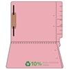 "Colored Folders, End Tab, Letter Size, 3/4"" Exp, Fastener Pos 1, 14pt Pink, 50/Box"