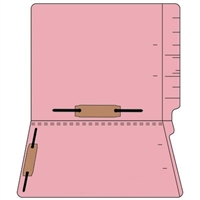 "Colored Folders, End Tab, Letter Size, 3/4"" Exp, Fastener Pos 3/5, 14pt Pink, 50/Box"