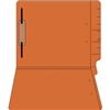 "Colored Folders, End Tab, Letter Size, 3/4"" Exp, Fastener Pos 1, 14pt Orange, 50/Box"