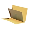 "Classification Folders, End Tab, Letter Size, 3/4"" Exp, 4 Fasteners, 1 Divider, 11pt Yellow, 25/Bx"