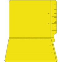 "Colored Folders, End Tab, Letter Size, 3/4"" Exp, No Fasteners, 14pt Yellow, 50/Box"