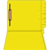 "Colored Folders, End Tab, Letter Size, 3/4"" Exp, Fastener Pos 1, 14pt Yellow, 50/Box"