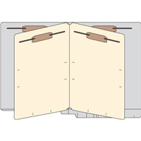 Classification Folders, End Tab, Letter, 2 Div, 14pt Gray, 25/Bx