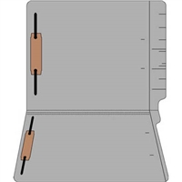 "Colored Folders, End Tab, Letter Size, 3/4"" Exp, Fastener Pos 1/3, 14pt Gray, 50/Box"