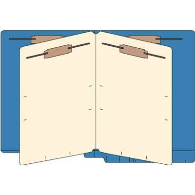 End Tab Classification Folders, 2 Dividers, Letter Size, 14pt Blue Item No. 87C04D2BLU