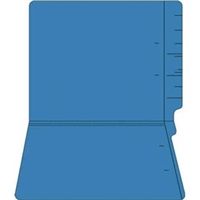 "Colored Folders, End Tab, Letter Size, 3/4"" Exp, No Fasteners, 14pt Blue, 50/Box"