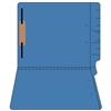 "Colored Folders, End Tab, Letter Size, 3/4"" Exp, Fastener Pos 1, 14pt Blue, 50/Box"