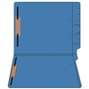 "Colored Folders, End Tab, Letter Size, 3/4"" Exp, Fastener Pos 1/3, 14pt Blue, 50/Box"