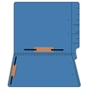 "Colored Folders, End Tab, Letter Size, 3/4"" Exp, Fastener Pos 3/5, 14pt Blue, 50/Box"