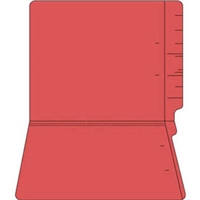 "Colored Folders, End Tab, Letter Size, 3/4"" Exp, No Fasteners, 14pt Red, 50/Box"