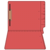 "Colored Folders, End Tab, Letter Size, 3/4"" Exp, Fastener Pos 1, 14pt Red, 50/Box"